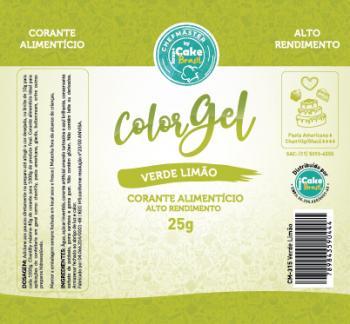 CM-315 / Corante: Color Gel 25g - Verde Limao