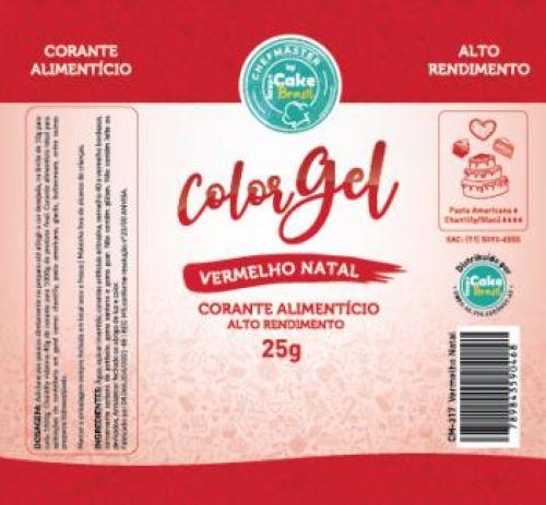 CM-317 / Corante: Color Gel 25g - Vermelho Natal