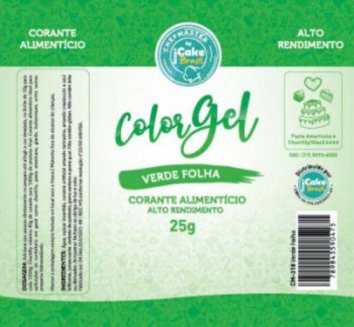CM-318 / Corante: Color Gel 25g - Verde Folha