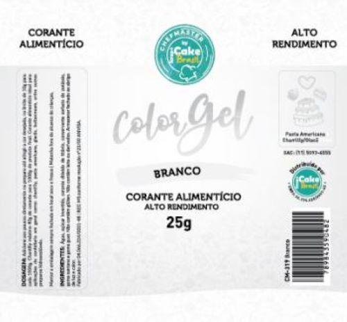 CM-319 / Corante: Color Gel 25g - Branco