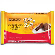 Cobertura Dia a Dia sabor chocolate ao leite  Barra 2,1KG Sicao