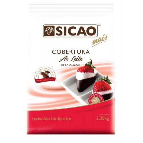 Cobertura Mais sabor chocolate ao leite  Facil Derretimento Gotas 2,05KG Sicao