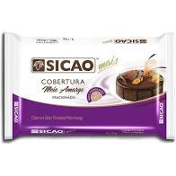 Cobertura Mais sabor chocolate meio amargo  Barra 2,1KG Sicao