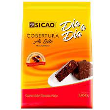 Cobertura sabor chocolate ao leite  Facil Derretimento Gotas 2,05KG Sicao