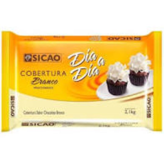 Cobertura sabor chocolate branco  Barra 2,1KG Sicao