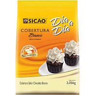 Cobertura sabor chocolate branco Dia a Dia Sicao Facil Derretimento 2,05KG