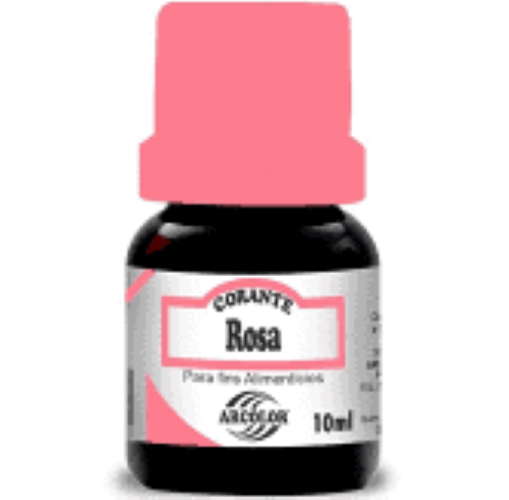 Corante Líquido Rosa -10ML - Arcolor