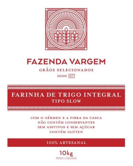 Farinha de Trigo Artesanal Slow 10kg Fazenda Vargem