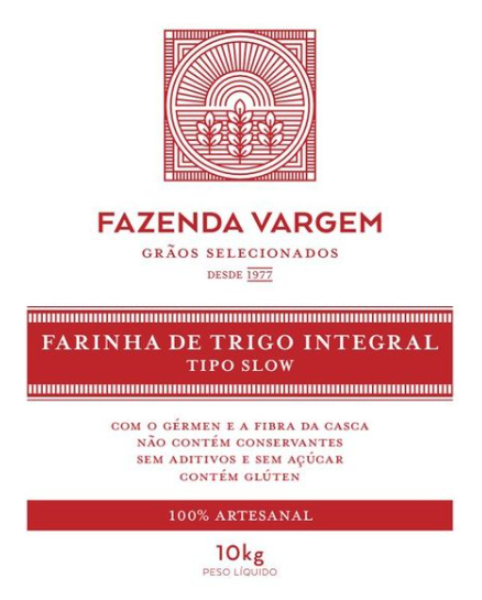 Farinha de Trigo Artesanal Slow 10kg Fazenda Vargem  27/10/21