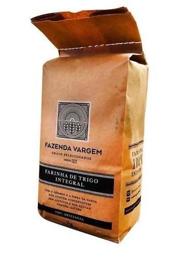 Farinha de Trigo Integral Artesanal 1kg Fazenda Vargem