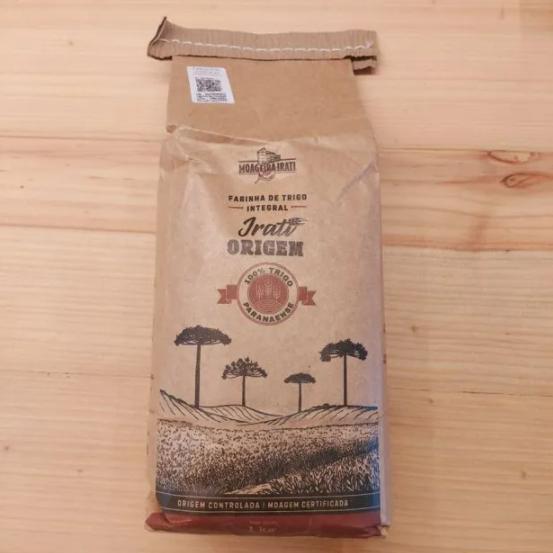 Farinha de trigo Irati Origem Integral 1kg