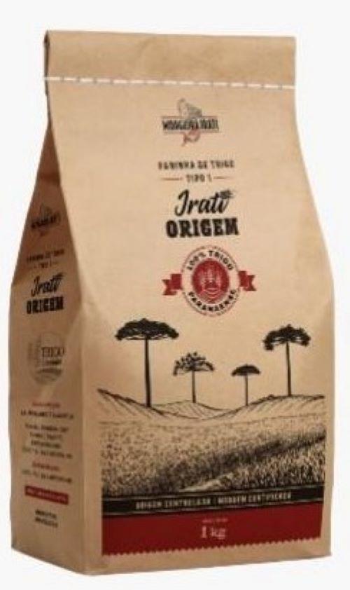 Farinha de trigo Irati Tipo 1 branca 1kg Trigo de Origem