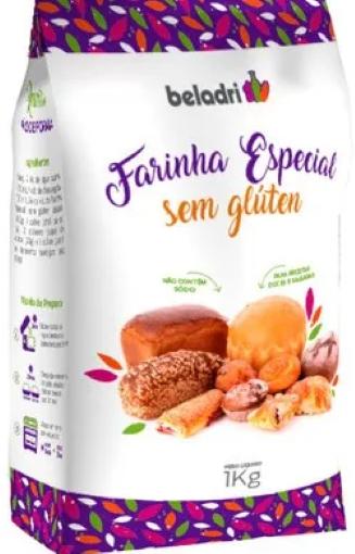 Farinha especial sem glúten 1Kg Beladri