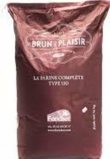 Farinha integral francesa T150 Blun de Plaisir 25kg Foricher