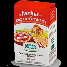 Farinha Pizza e Focaccia 1kg - Molino Grassi