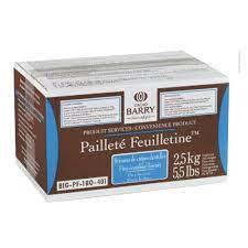 Massa folhada pedaços Pailletté Feuilletine 2,5kg Cacao Barry