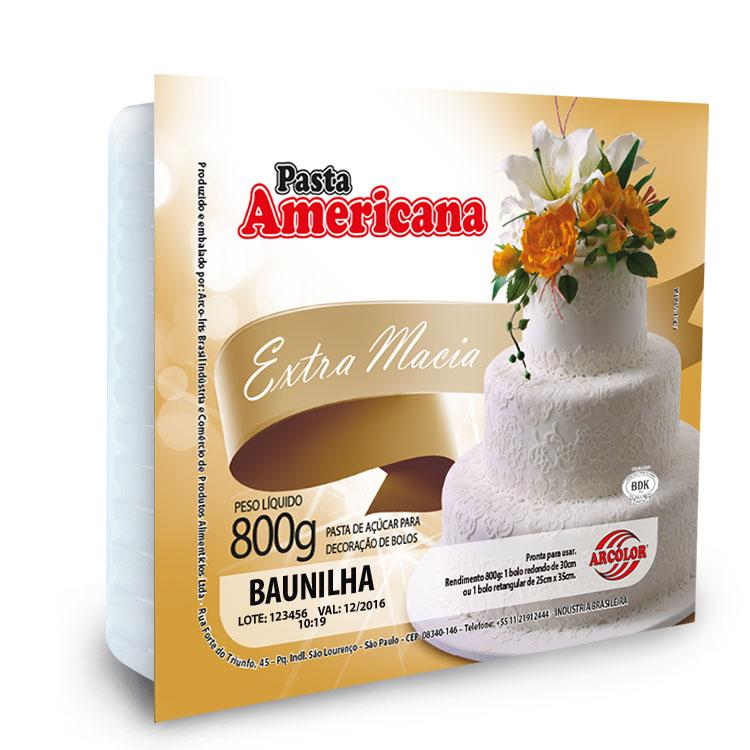Pasta Americana Branca 800g Arcolor