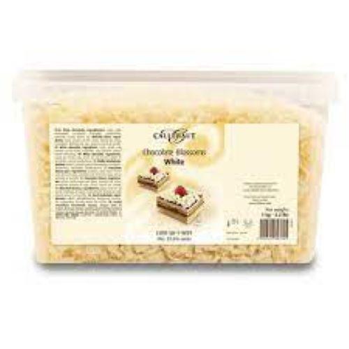 Raspas de Chocolate branco Monalisa blossoms 1kg Callebaut