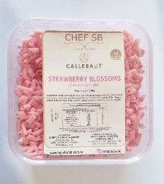 Raspas de chocolate de morango Callebaut blossoms 150g