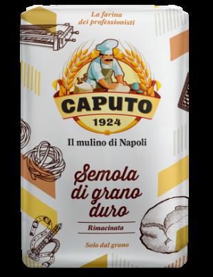 SEMOLA DE GRANO DURO RIMACINATA  CAPUTO ( proteína 12,5% ) 1KG