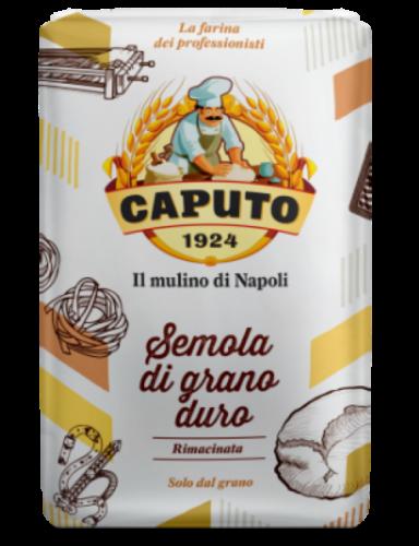 Semola grano duro  rimacinata ( proteína 12,5% ) 1kg Caputo