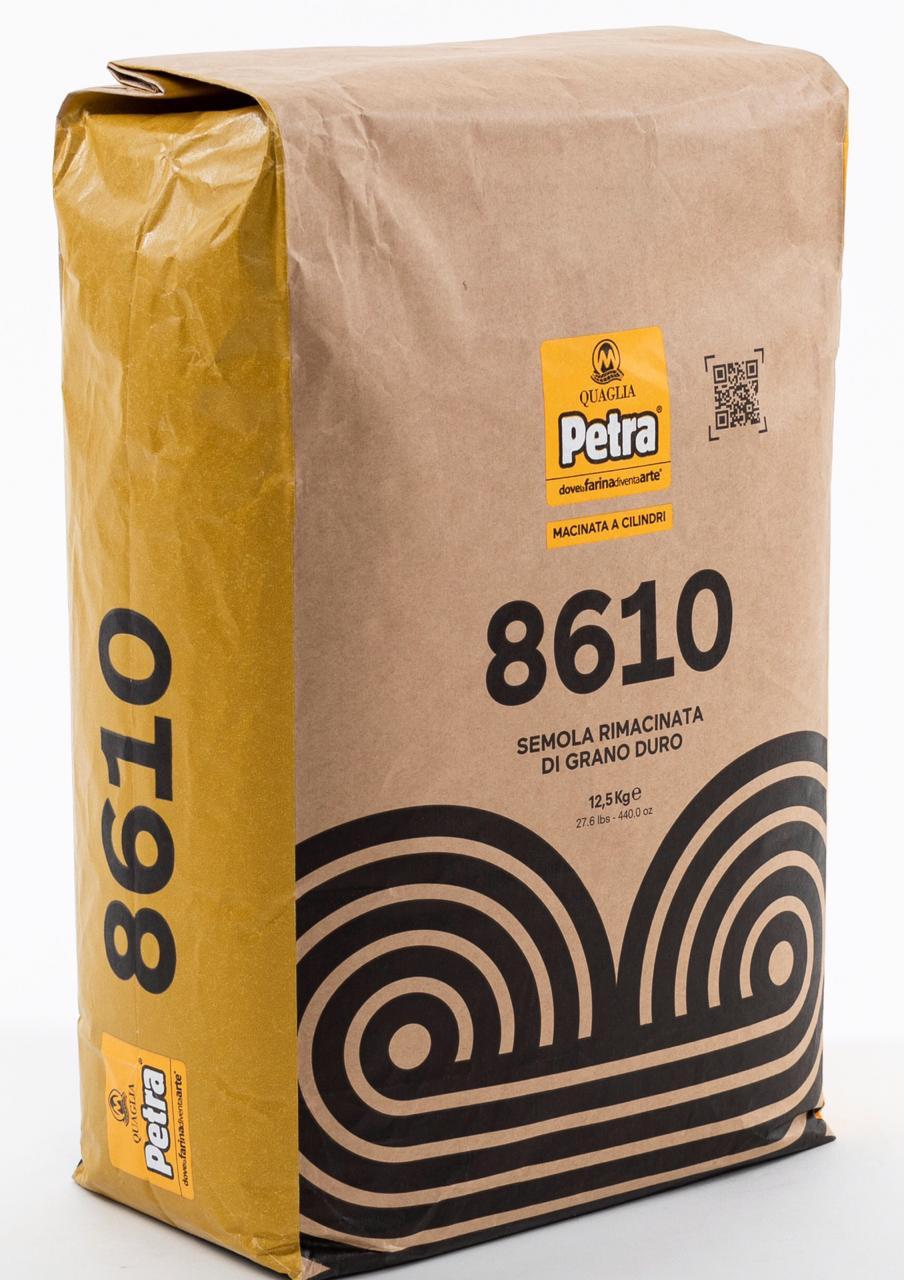 Semola Rimacinata Grano Duro 8610 12,5kg Petra