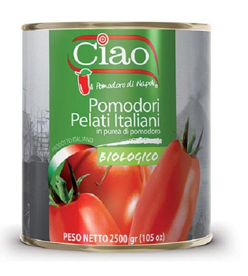 Tomate Pelado italiano Biologico Orgânico 2,5kg Ciao