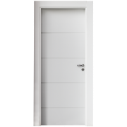 Kit porta branca pintura esmalte uv - frisada modelo 04 - sólida - Connect portas