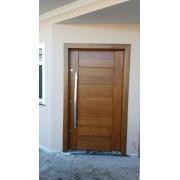 KIT Porta Externa Madeira Maciça Cedro Arana Mod. BBB