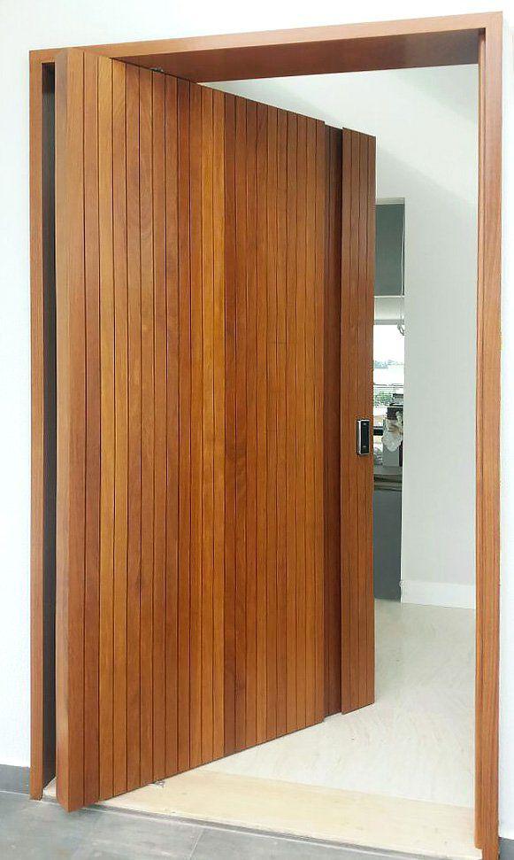 Kit porta pivotante ripada vertical - Connect Portas