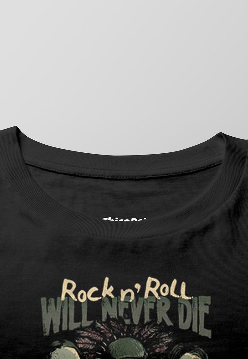 Camiseta Rock Will Never Die