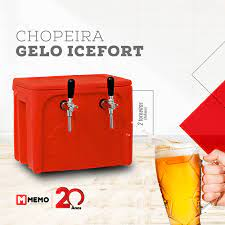 Chopeira Gelo Icefort Memo - 2 Torneiras Italianas