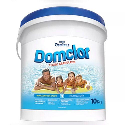 Cloro para piscina Domclor Hipoclorito Granulado Azul 10 Kg