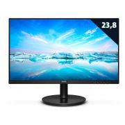 Monitor Led 23,8 Philips 1920X1080 Vesa Preto Com Multimidia