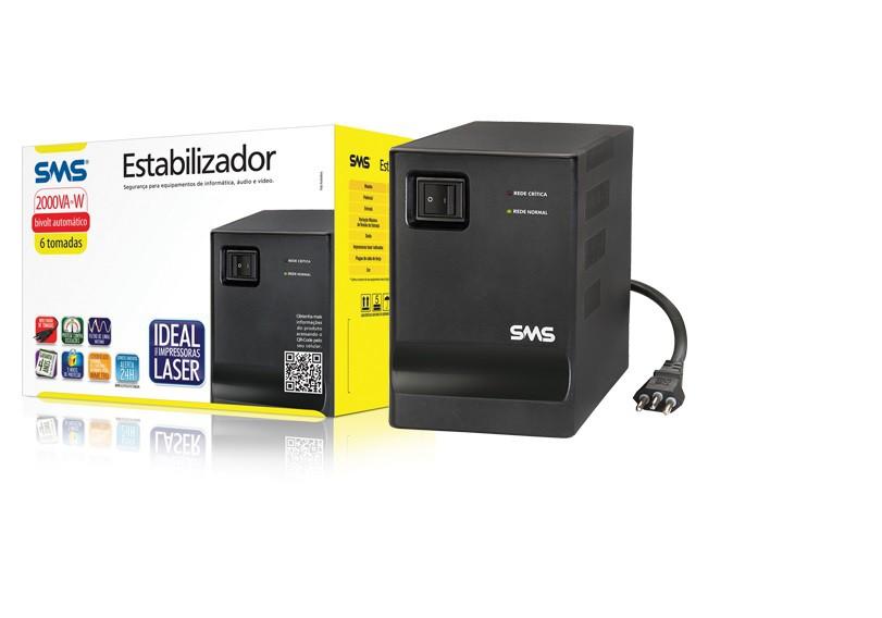 Estabilizador de Energia Sms 16218 Progressive III 2000Va