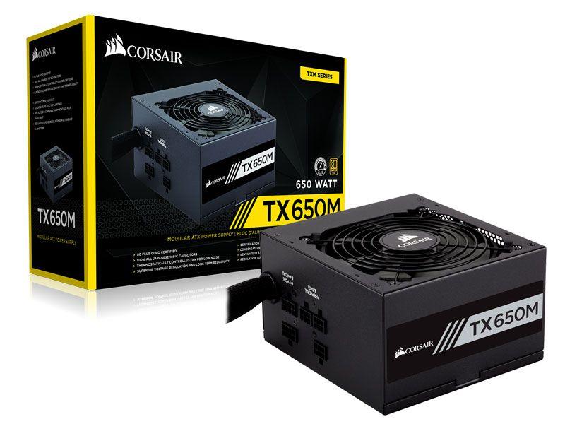 Fonte 80Plus Gold Corsair TX-M 650W Atx Pfc Ativo Semi-Modul