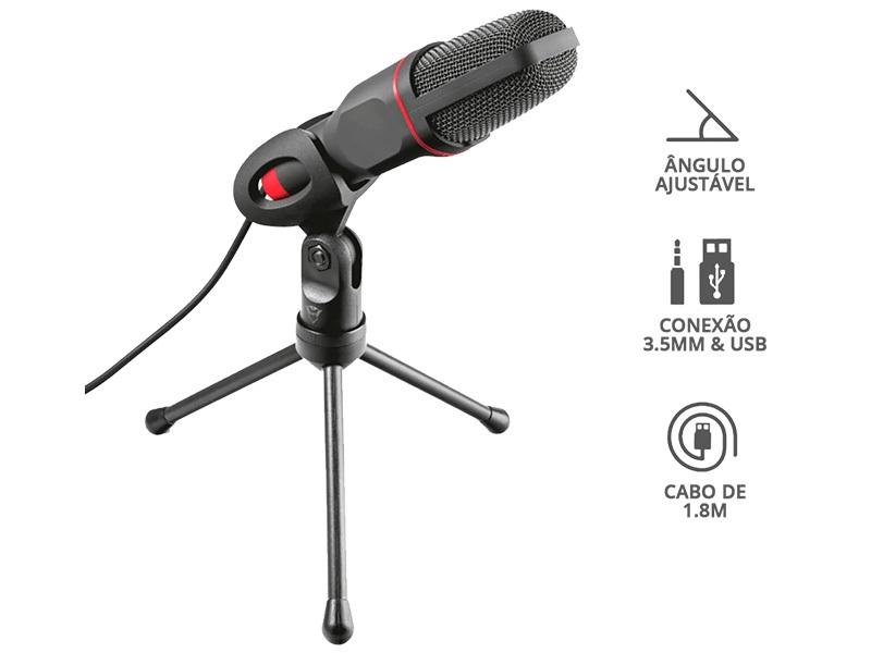 Microfone Trust 23791 Gxt-212 Mico Streamer P/Transmissao