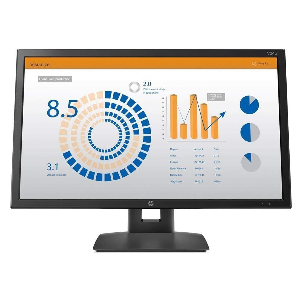 Monitor Hp 23,6 Led V24b Ips Hdmi Display Port Vesa Pivot