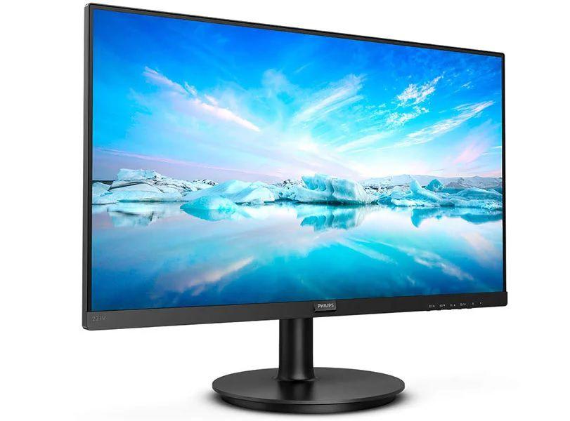 Monitor Led 23,8 Philips 1920X1080 Vesa Preto Com Multimidia