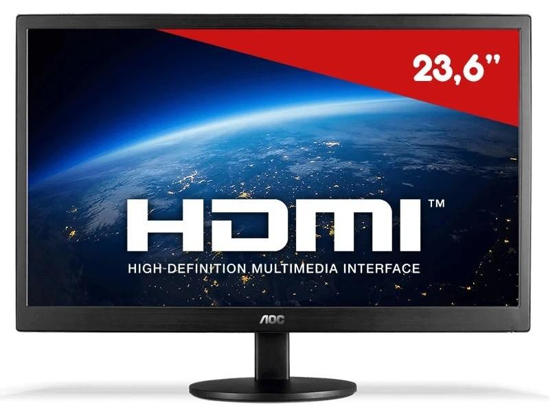 Monitor Led 23 Aoc 1920x1080 Full Hd Wide-Vga-Hdmi Preto