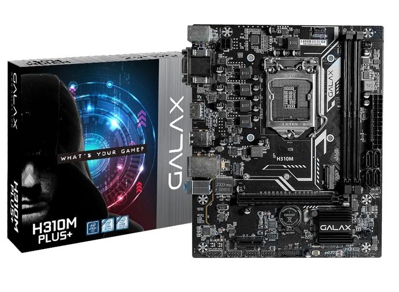Placa Mãe Galax Desktop H310M Plus Matx Ddr4 2666Mhz M.2 9Ge