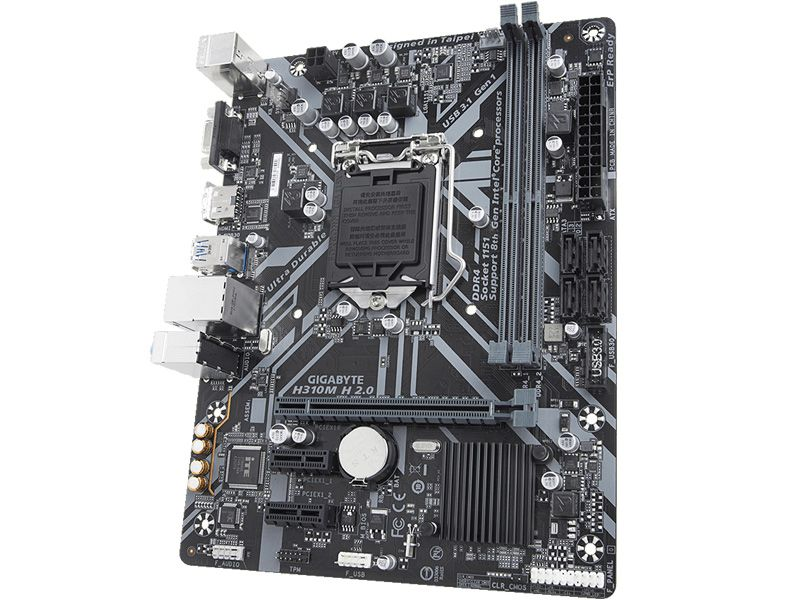 Placa Mae LGA1151 Intel H310M H 2.0 Ddr4 2666Mhz Usb 3.1