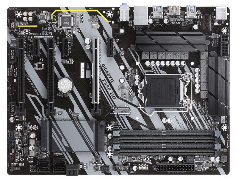 Placa Mae LGA1151 Intel Z390 UD Atx Ddr4 4133MHZ M.2 Hdmi