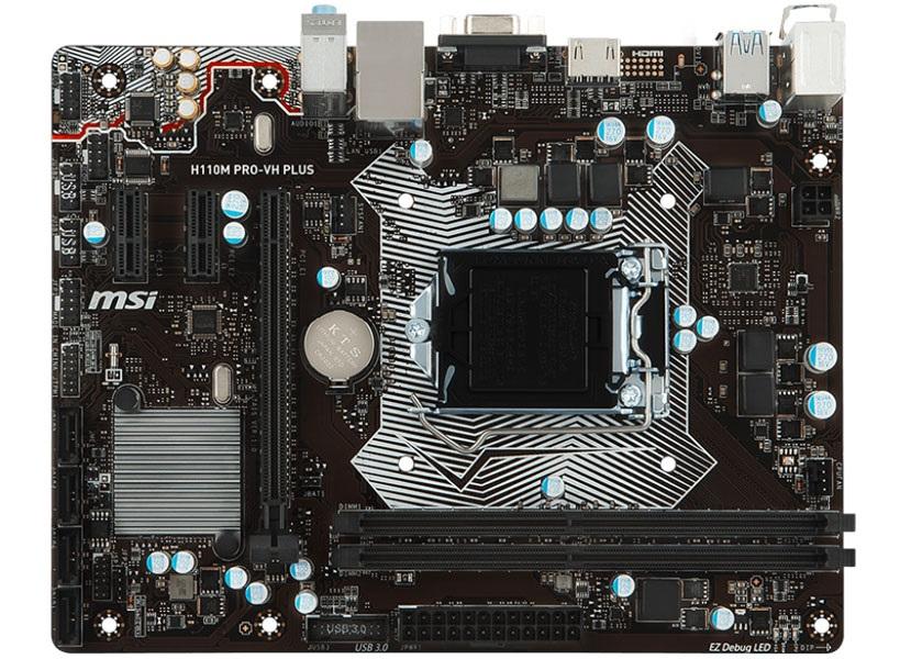 Placa Mãe Lga1151 MSI H110M Pro-VH Plus Matx Ddr4  6ºe 7ºGer