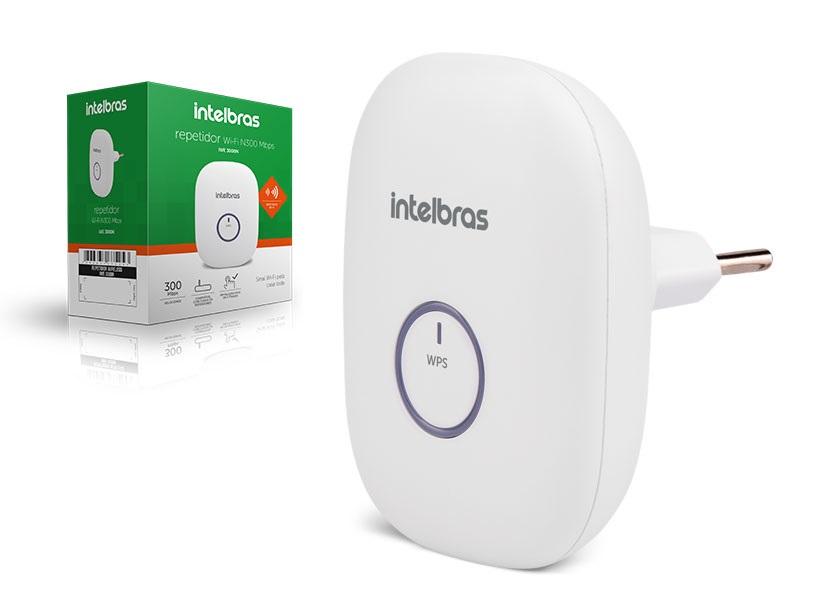 repetidor Wifi Intelbras Iwe 3000N 300Mbps Com Wps 2,4Ghz