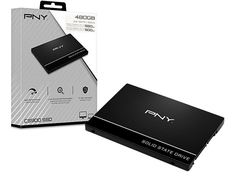 Ssd 2,5 Desktop Notebook Pny CS900 480Gb Sata III 6Gb/s