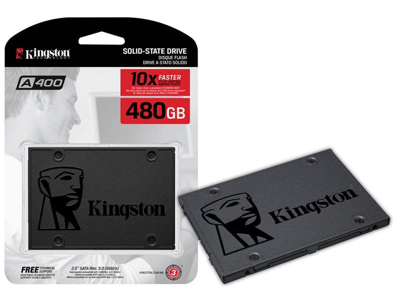 Ssd Desktop Notebook Kingston 480Gb A400 2.5 Sata III 6Gb/s