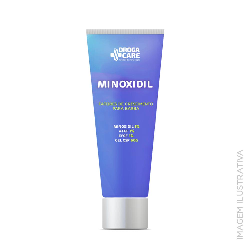Minoxidil 5% + fatores de crescimento para barba
