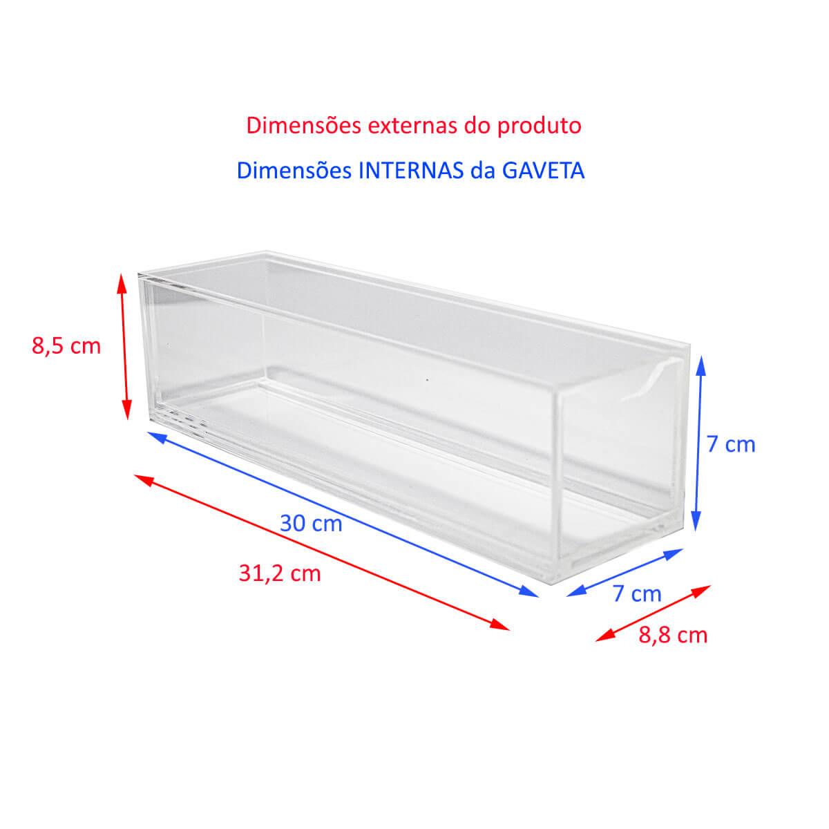 Caixa Acrílico Porta Incensos com Gaveta