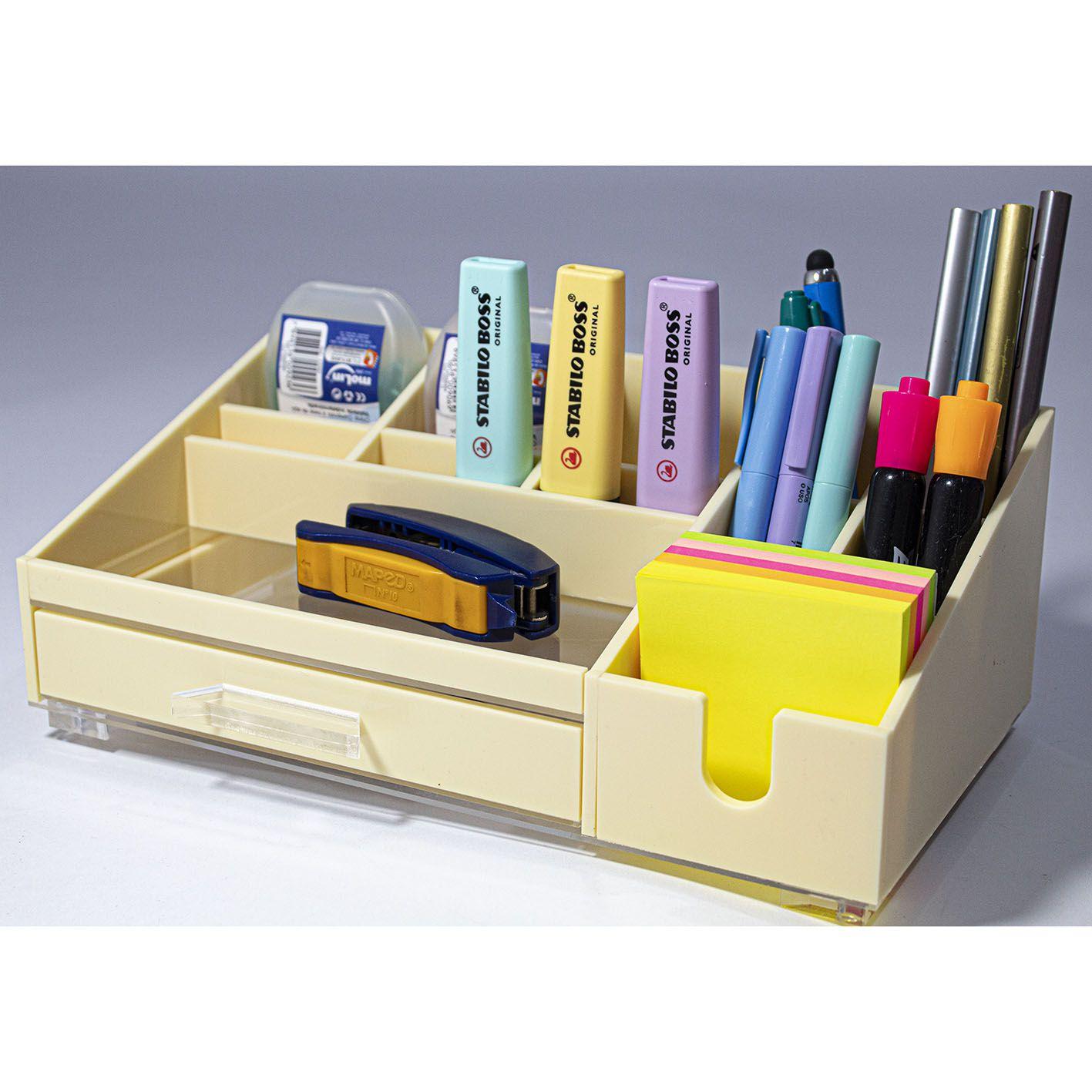 Organizador Acrílico Office BEGE